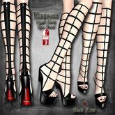 ~Black Arts~ Empress Knee Boots for Slink High Feet