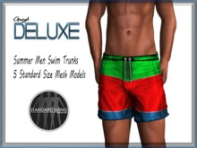 Angel DELUXE - Summer Swim Trunks - MESH