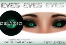 Delizio - Emerald Abyss eyes + Mesh eyes version - Halloween eyes