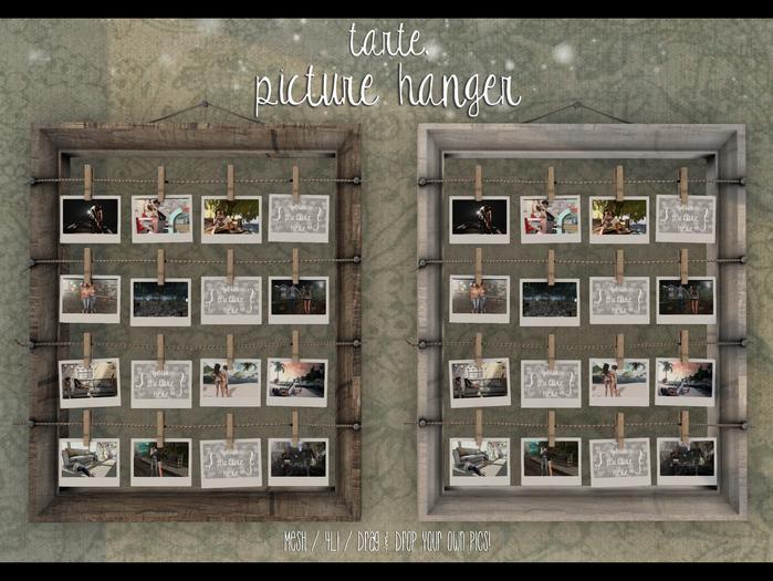 tarte. picture hanger - light