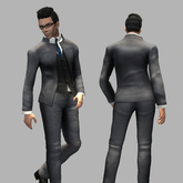 *Me Sew Sexy* - Grey Tuxedo Suit Outfit for Men- HT