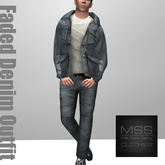 *Me Sew Sexy* - Faded Denim Outfit - Blue