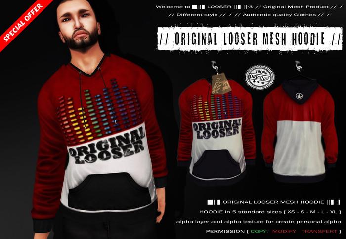 █║▌LOOSER ║▌║® // Original Looser Mesh Hoodie Man // Welcome FREE GIFT