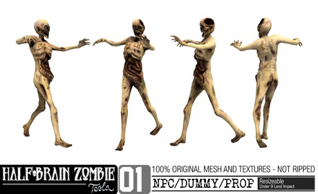 -TESLA- Half-Brain Zombie _01 NPC