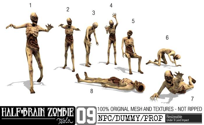 -TESLA- Half-Gehirn Zombie NPC-Sammlung <8 Zombie-Pack>