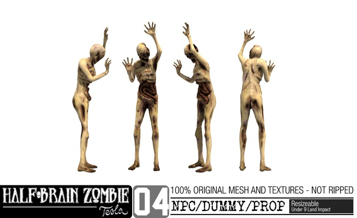 -TESLA- Half-Brain Zombie _04 NPC