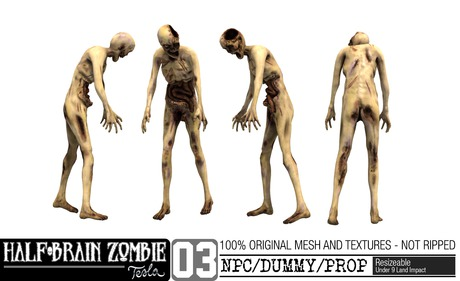 -TESLA- Half-Brain Zombie _03 NPC