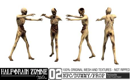 -TESLA- Half-Brain Zombie _02 NPC