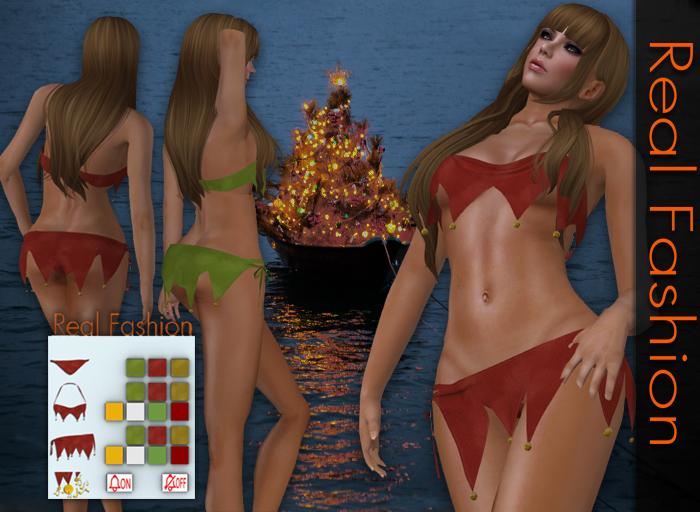 REAL FASHION Christmas bikini and skirt set