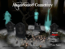 Halloween - Abandoned Cemetery - tomb, tombstone, goth, gothic