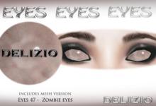 Delizio -  Zombie Eyes + mesh eyes version - Halloween eyes