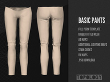 Topology - Rigged Fitmesh Full Perm Basic Pants