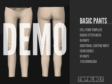 Topology - Rigged Fitmesh Full Perm Basic Pants DEMO