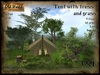 Forest tent with trees and grass - Old World - Garden decorations