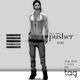 tag. male pusher pants - [demo]