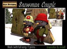 .:Bee Designs:.Snowman couple- transfer