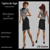 *CdT* blouse retro&pencil skirt