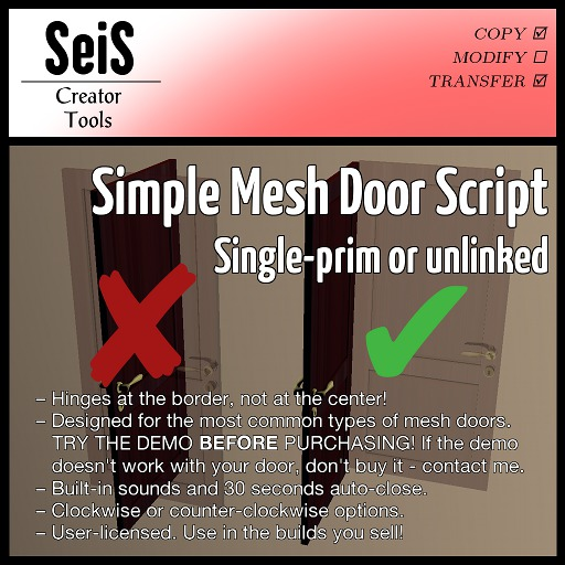 <SeiS> Simple Mesh Door Pack