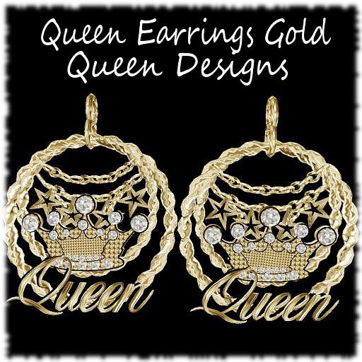 Queen Earrings Gold