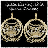 Queen Earrings Gold