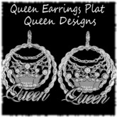 Queen Earrings Plat