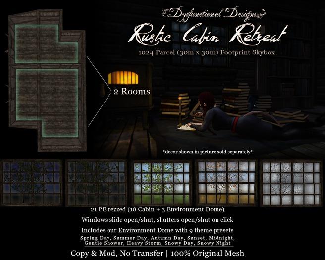 [DDD] Rustic Cabin Retreat Skybox & Dome