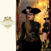 Glam Dreams Skull Corset Dress ( Black )