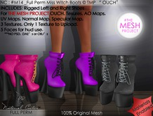 NC : #M014_Full Perm Miss Witch Boots Rigged TMP Ouch