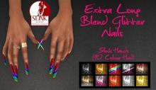 IAF Extra Long Blend Glitter Nails (Slink Hands) (Relaxed)