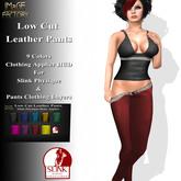 IMaGE Factory Low Cut Leather Pants w/Slink Physique Applier