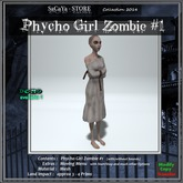 SaCaYa's Phycho Girl Zombie #1