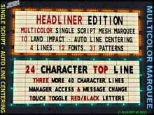 Multicolor Low Prim Marquee - Headliner Edition