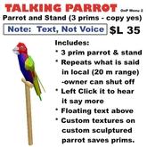 OnP Parrot, talking