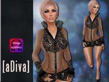aDiva Mellie Dress Black Omega Applier Including fitmesh skirt