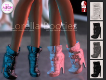 Bens Boutique - Lorella Booties Black Pack (SlinkHighFeet & #Themeshproject Ouch)