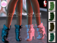 Bens Boutique - Lorella Booties Green Pack