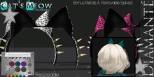 :Diamante: Cat's Meow - HeadBand w/5 Bonus Metals!