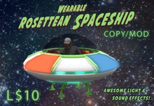 Wearable Animated Rosettean Spaceship