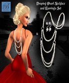 Alyssa Bijoux - Draping Pearl Necklace & Earring Set   Pearls