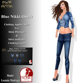 IMaGE Factory Blue Nikki Outfit w/Slink Physique Applier