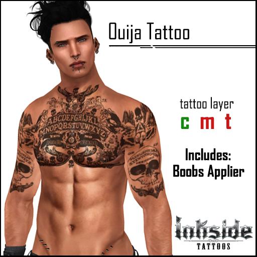 Inkside Tattoos - Ouija Tattoo with lolas applier