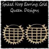 Spiked Hoop Earrings Gold