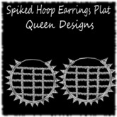 Spiked Hoop Earrings Plat