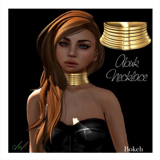 Abuk Necklace 'gold' (mesh) - Bokeh