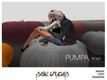"""""""PUMPA"""" Pouf Sweet Pumkin GREY STRIPED by """"Sources""""  PG - MESH - BOX - Copy"""