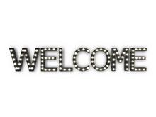 "[Px] ""WELCOME"" Illuminated Light Bulbs Sign"
