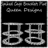 Spiked Cage Bracelets Plat
