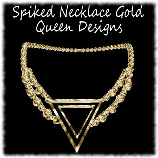 Spiked Necklace Gold