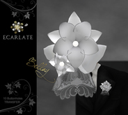 Ecarlate - Bellay - 10 Buttonhole Bridal / boutonniere