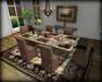 Dinner Party Dining Set for 6: Travertine & Taupe Linen BOXED